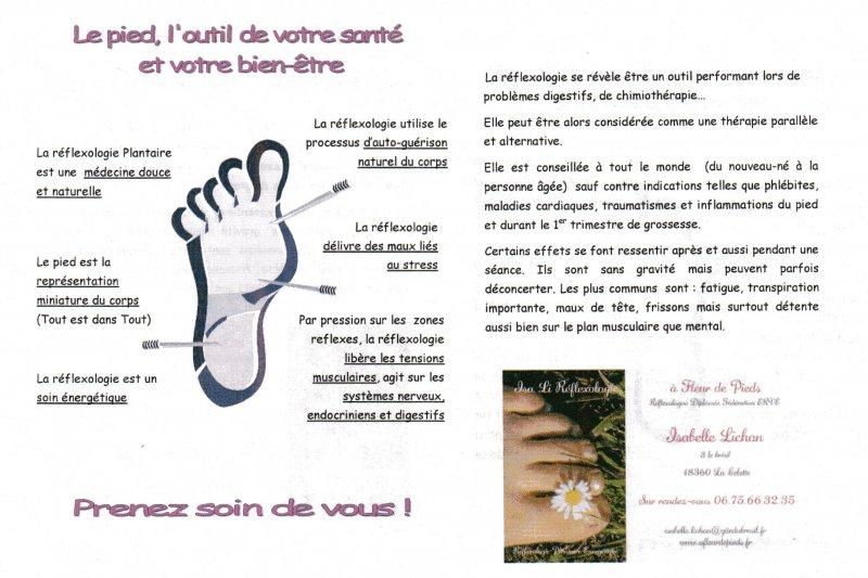 flyers reflexologie plantaire