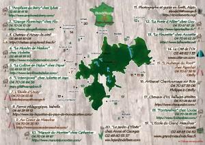 carte tronçais et noms des partenaires