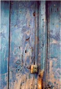 volet bleu grec